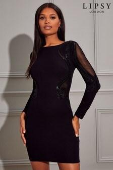 Lipsy Sequin Artwork Bodycon Dress