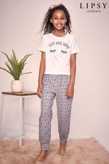 Lipsy Girl Short Sleeve Long Leg Pyjama Set