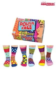 United Odd Socks Polka Face Socks