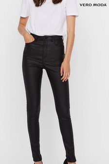 Vero Moda Coated Faux Leather Skinny Jeans