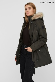 Vero Moda Faux Fur Hooded Parka Jacket