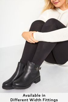 Yours Elite Elastic Strap & Buckle Ankle Boot