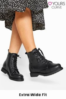 Yours Arezzo Chunky Sole Lace Up Ankle Boot