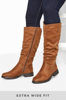 Yours Affi Ruche Cleat High Leg Boot