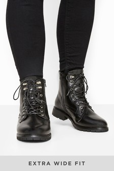 Yours Alfie Lace-Up Combat Ankle Boot