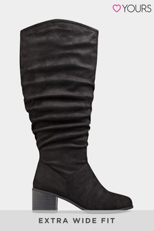 Yours Erasmo Block Heel Ruche Boot