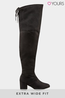 Yours Evita Block Heel Over the Knee Boot