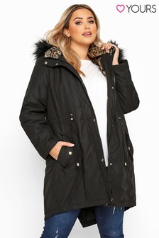 Yours Curve Animal Fur Parka Jacket