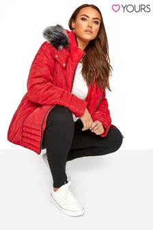 Yours Curve Panelled Padded Jacket
