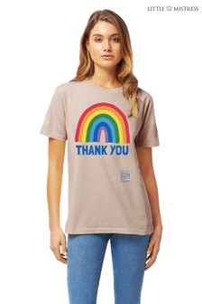 Little Mistress x Kindred Rainbow Thank You NHS Unisex T-Shirt by Instajunction