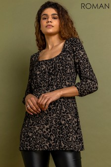 Roman Gathered Front Detail Top
