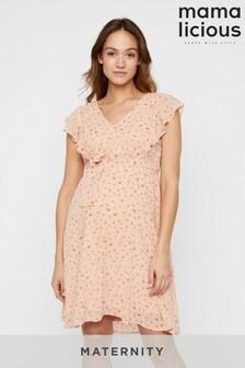 Mamalicious Maternity Floral Ruffle Dress