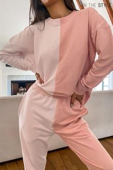 In The Style Francesca Farago Colour Block Sweatshirt
