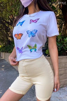 In The Style Francesca Farago Buttefly Printed T-Shirt