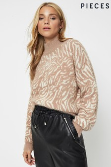 Pieces Animal Print Jumper