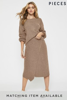 Pieces Knitted Skirt Co-ord