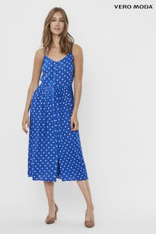 Vero Moda Polka Dot Cami Midi Dress