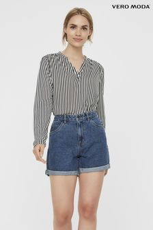 Vero Moda High Waist Mom Denim Shorts