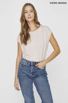 Vero Moda Soft Touch Cap Sleeve T-Shirt