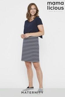 Mamalicious Maternity Nursing Stripe Jersey Dress