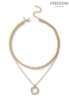 Freedom Jewellery Chain and Circle Necklace