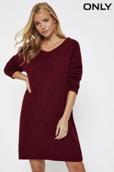 Only V neck Knitted Jumper Dress