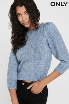 Only Puff Sleeve Round Neck Knitted Jumper
