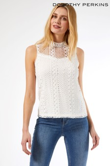 Dorothy Perkins Sleeveless Lace Top