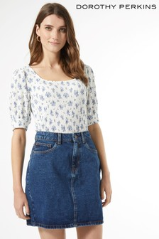 Dorothy Perkins Floral Square Neck Top