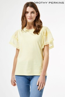 Dorothy Perkins Extreme Frill Sleeve Top