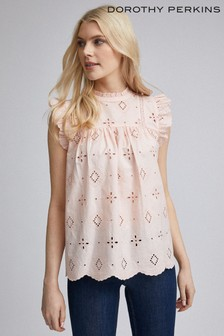 Dorothy Perkins Broderie Shell Top