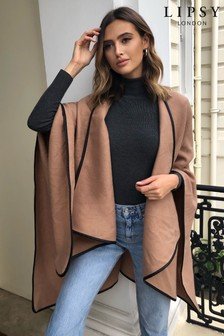 Lipsy PU Binded Cape