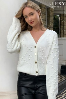 Lipsy Bobble Crop Cardigan