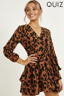 Quiz Animal Print Wrap Dress