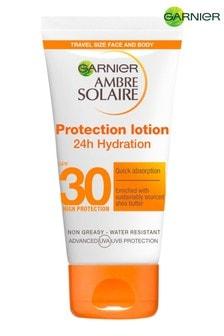 Garnier Ambre Solaire Mini Ultra-Hydrating Shea Butter Sun Protection Cream SPF30 50ml Travel