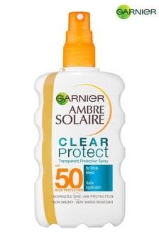 Garnier Ambre Solaire Clear Protect Transparent Sun Cream Protection Spray SPF50 200ml
