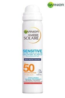 Garnier Ambre Solaire Sensitive Hydrating Hypoallergenic Face Sun Cream Mist SPF50 75ml