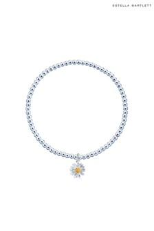 Estella Bartlett Sienna Wildflower Bracelet with Beads and Wildflower