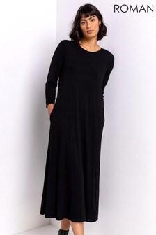 Roman Pocket Jersey Maxi Dress