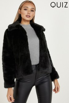 Quiz Faux Fur Collar Jacket