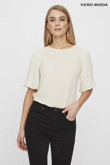 Vero Moda Puff Sleeve Short Sleeve Top