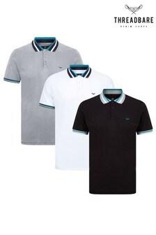 Threadbare Polo Shirts Pack of 3