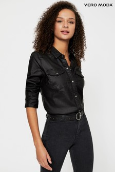 Vero Moda Coated Denim Shirt