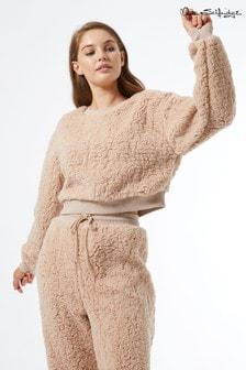Miss Selfridge Teddy Crop Sweatshirt