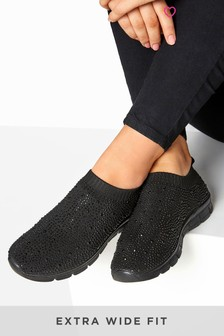Yours Curve Tempest Sock Style Diam Trainer