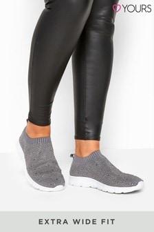 Yours Curve Tempest Sock Diam Trainer