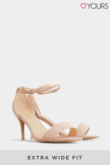 Yours Extra Wide Fit Strappy Heels