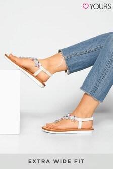 Yours Optima Gem Flower Sandals