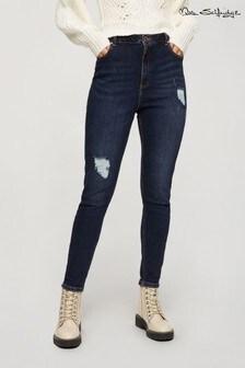 Miss Selfridge Lizzie Ripped Dark Wash Skinny Jean