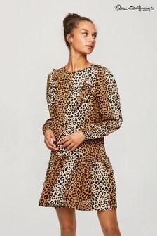 Miss Selfridge Leopard Frill Front Smock Dress
